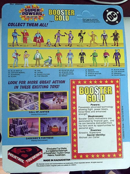 Booster Gold Super Powers Collection by Industrial Toy Werks
