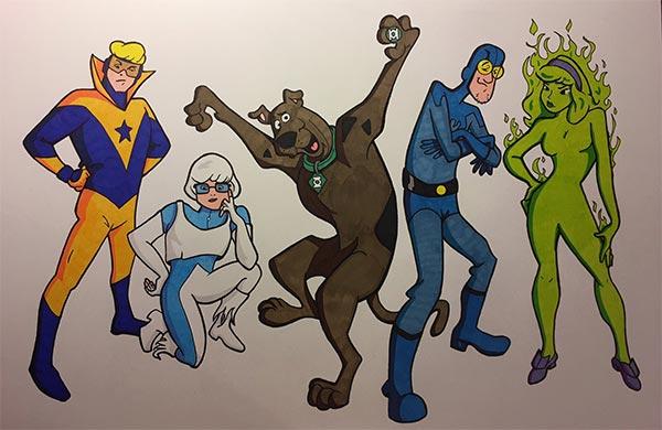 Scooby-Doo JLI by Jarrod Alberich