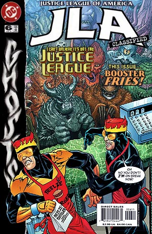 JLA Classified #6 wearing a Ghosts Halloween costume!