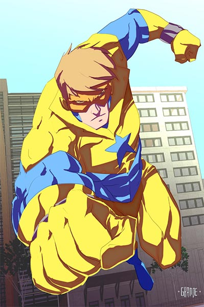 Booster Gold by johnnymorbius (J.C. Grande)