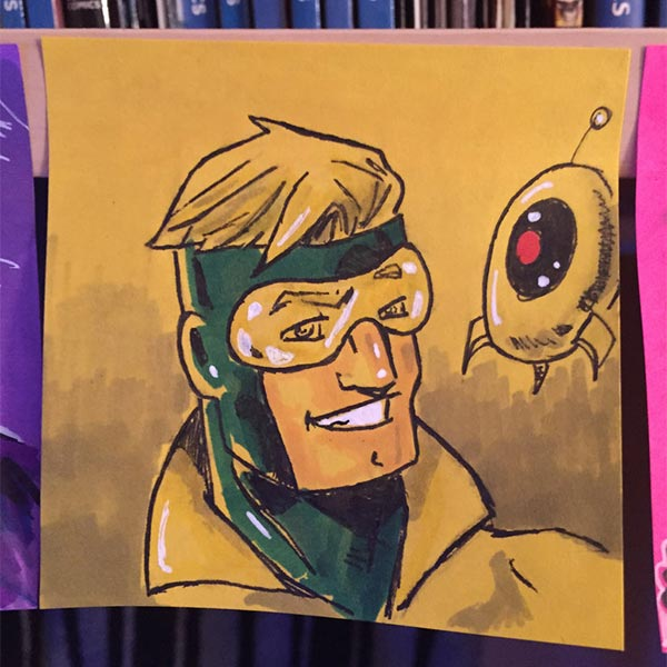Booster Gold sticky note by jokerlover94