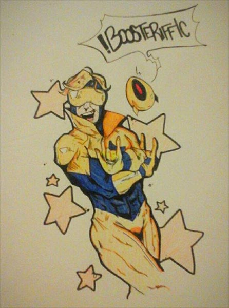 Booster Gold and Skeets by Jon Samuel Kent on Amino.com