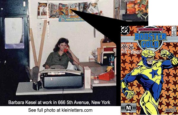 DC Comics Editor Barbara Kesel at work in 666 5th Avenue