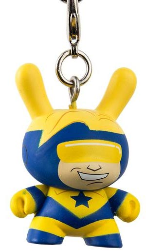 Booster Gold Justice League Dunny Keychain from Kid Robot