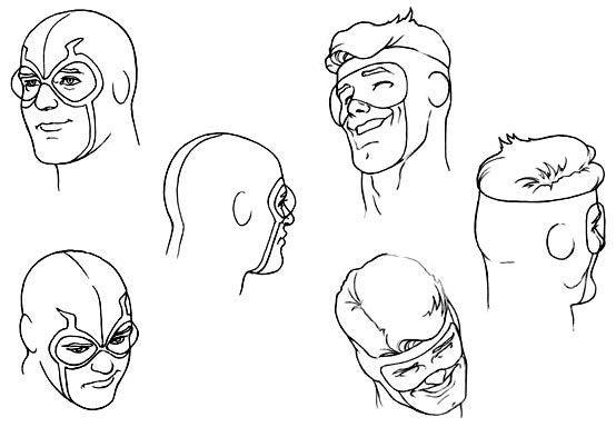 Kevin Maguire model sheet for 2009 DC Direct JLI figures