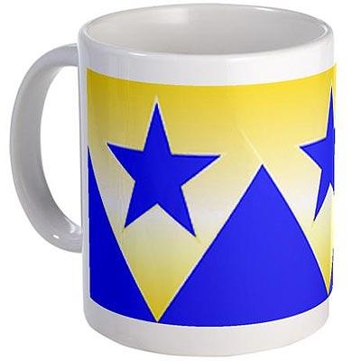 Booster Gold mug by meteortown2