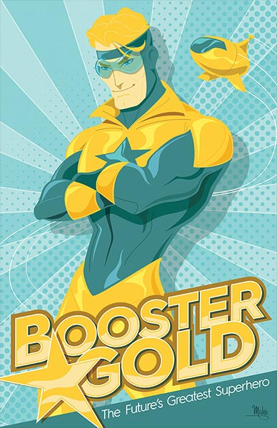 Booster Gold by Mike Mahle at Deviant Art
