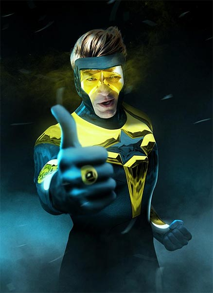Nathan Fillion as Booster Gold by BossLogic