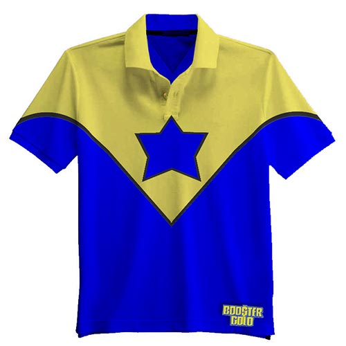 Booster Gold polo concept by Needham Comics