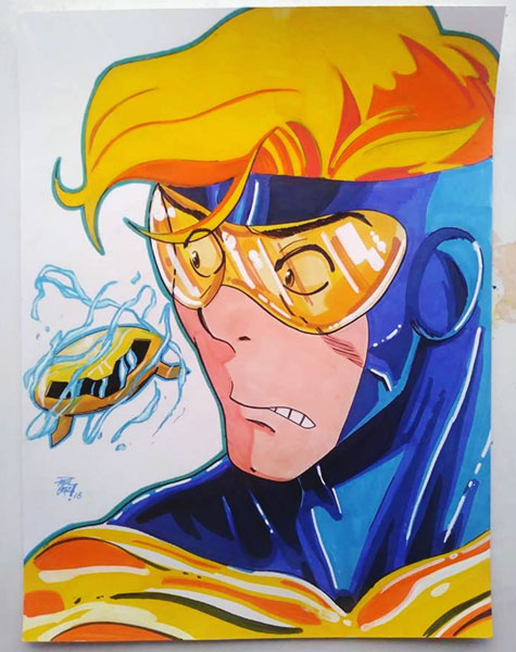 Booster Gold fan art by pgori927 via DeviantArt.com