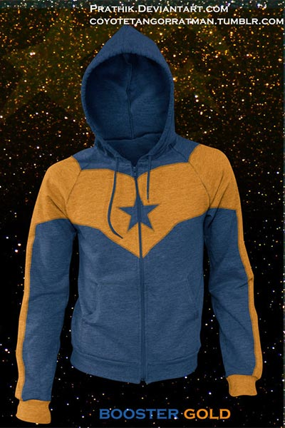 Booster Gold hoodie concept by Prathik Paramesh