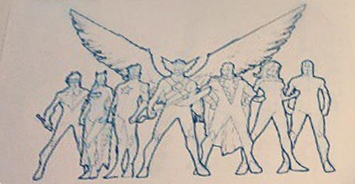 Justice League sketch by RB Silva