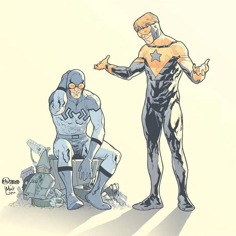 Blue Beetle and Booster Gold by RB Silva and Mat Lopez