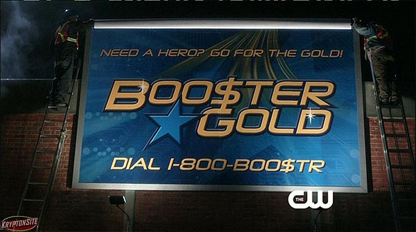 Booster Gold on Smallville, screen capture by Kryptonsite.com