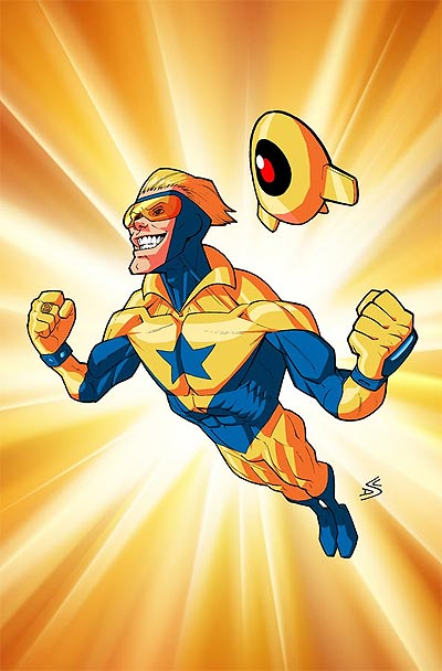 Booster Gold and Skeets by D.C. Stuelpner