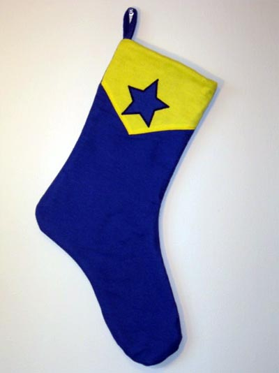 Booster Gold stocking by Super Sox