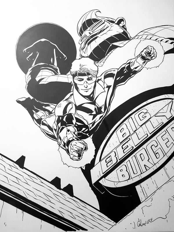 Booster Gold commission by Jim Calafiore