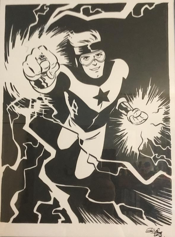 Booster Gold commission by Elsa Charretier