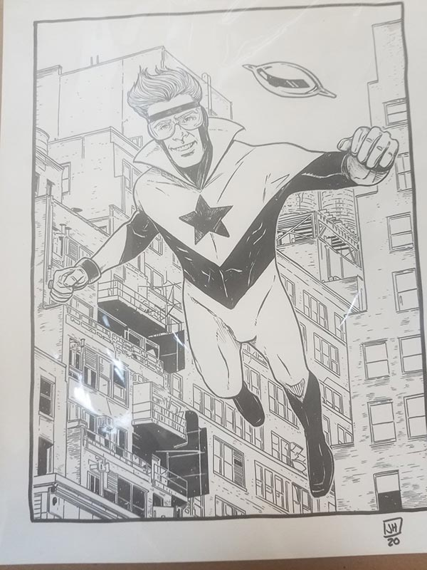 Booster Gold commission by Jeremy Haun