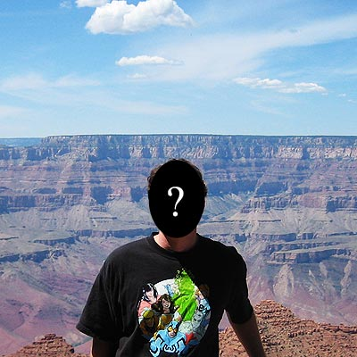 Booster Gold t-shirt at the Grand Canyon