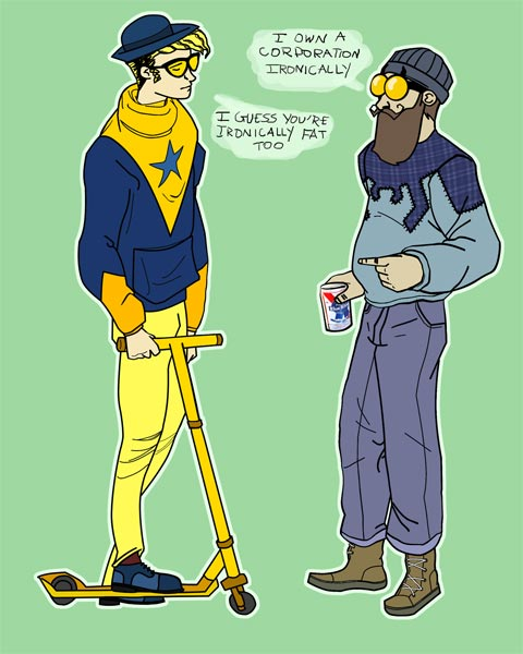 blue and gold hipsters by Kaitlyn Van Dorn