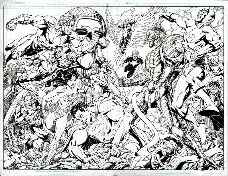 My most time consuming #commission to date.  Not quite to @arthuradamsart crazy multi-character commission standards but not bad. I just wish it had been for an actual comic! #JusticeLeague #DCComics #WonderWoman #Superman, @aaronlopresti May 26, 2021