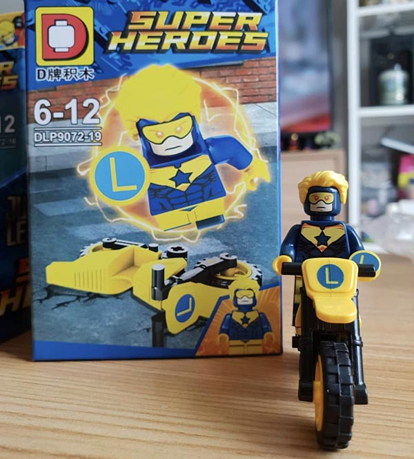 Duo Le Pin DLP9072-19 Super Heroes Booster Gold