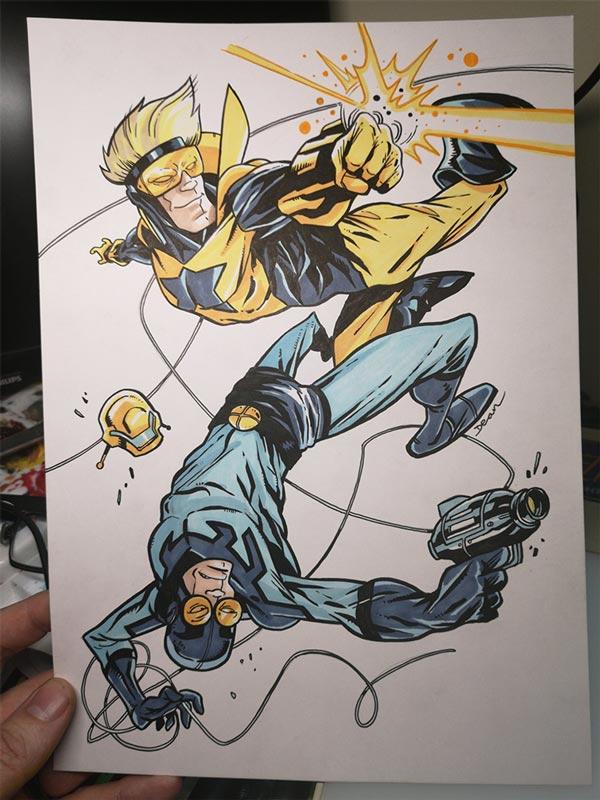 Blue and Gold commission by Dean Beattie @deanbeattie Twitter.com