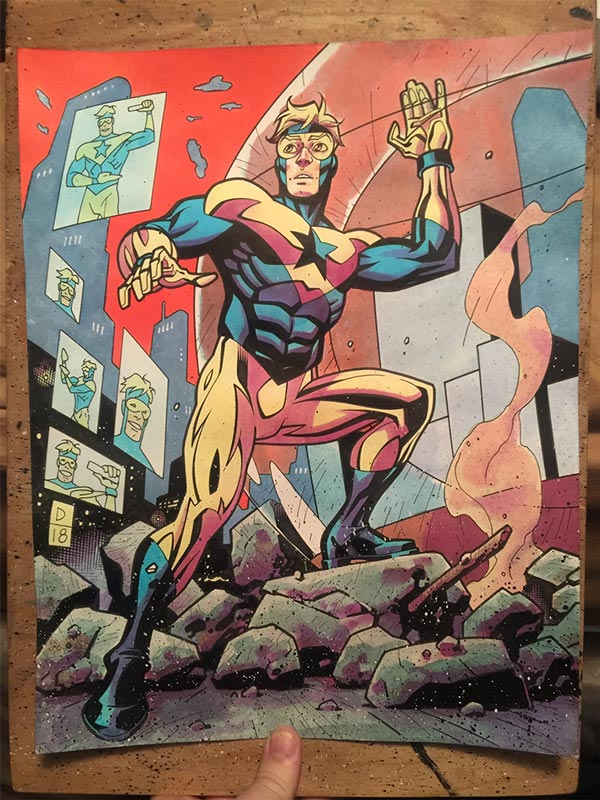 Booster Gold commission by Derec Donovan via Twitter