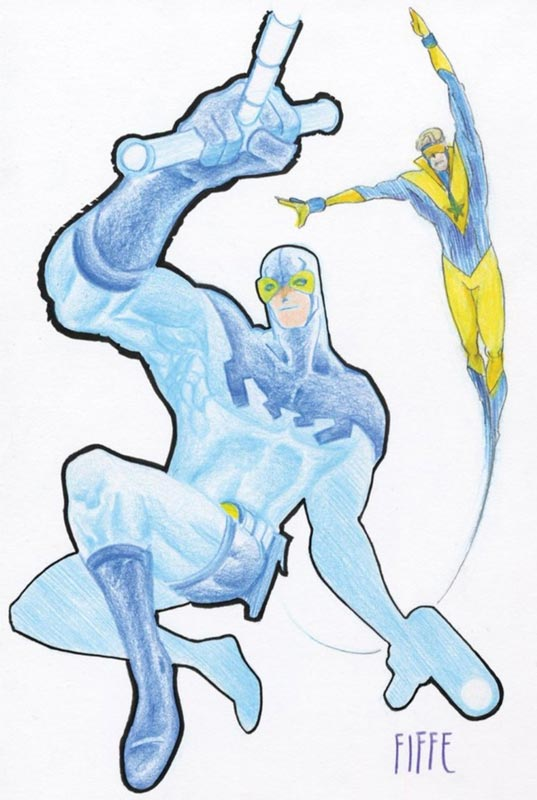 Blue Beetle and Booster Gold by @MichelFiffe. @HebenonPodcast Dec 18, 2019