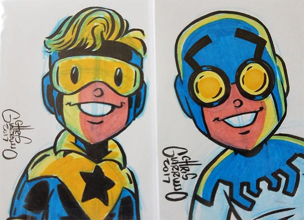 Booster Gold and Blue Beetle commission for Jonny Michel