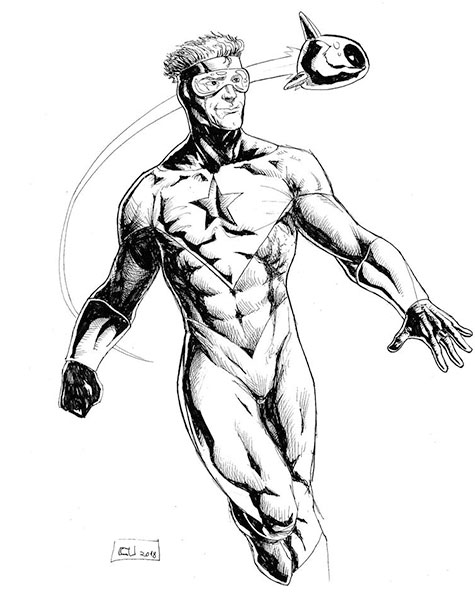 Booster Gold fan art by Weball via DeviantArt.com