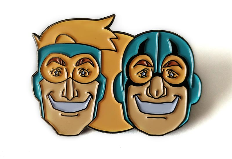 Booster Gold & Blue Beetle Soft Enamel Pin